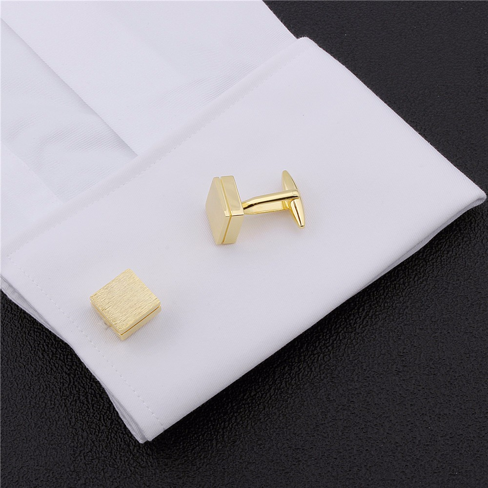Image 4 - HAWSON Retailed Formal Brushed Cufflinks Men's Suit Shirt IP Black CuffLinks High Quality with Gift Box-in Tie Clips & Cufflinks from Jewelry & Accessories