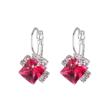 Fashion Women Earrings 2018 Elegant Rhinestone Square Crystal For Accessories Wedding Jewelry Gift