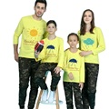 Family clothing otoño/primavera paquete de la familia de algodón camiseta set madre, niño, ropa padre madre e hijos de la familia ropa a juego
