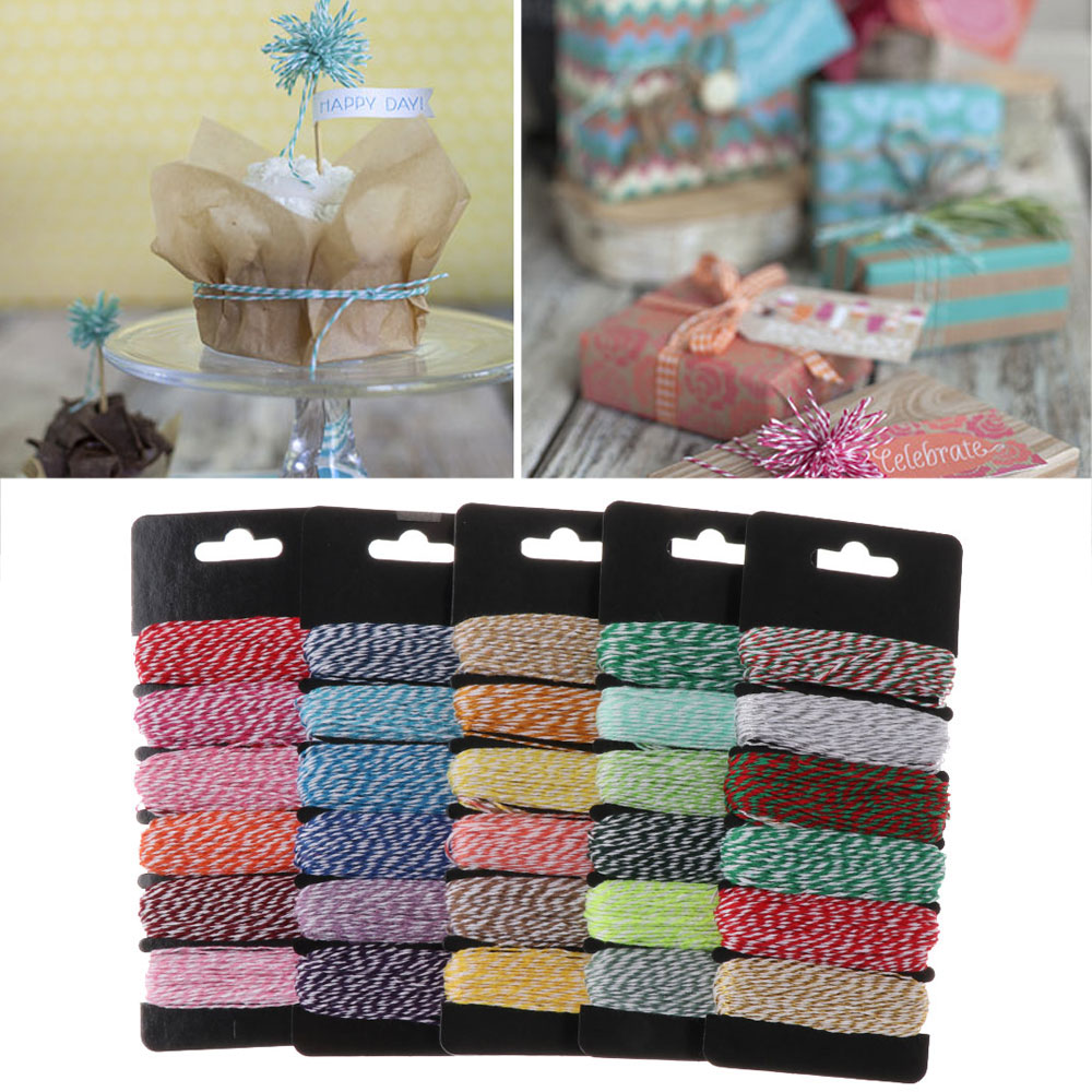 4Ply Birthday Party Scrapbooking DIY Sewing Cords Cotton Rope Baker Twine