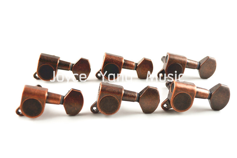 niko vintage style bronze electric guitar tuning pegs tuners machine head 6 in line 6r free. Black Bedroom Furniture Sets. Home Design Ideas