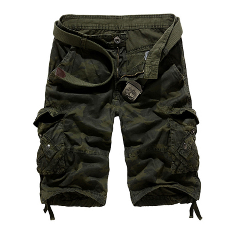 2018 Summer Tactical Military Camo Shorts Men Camouflage Cargo Shorts Casual Loose Cotton man Army Short Pants Brand Clothing