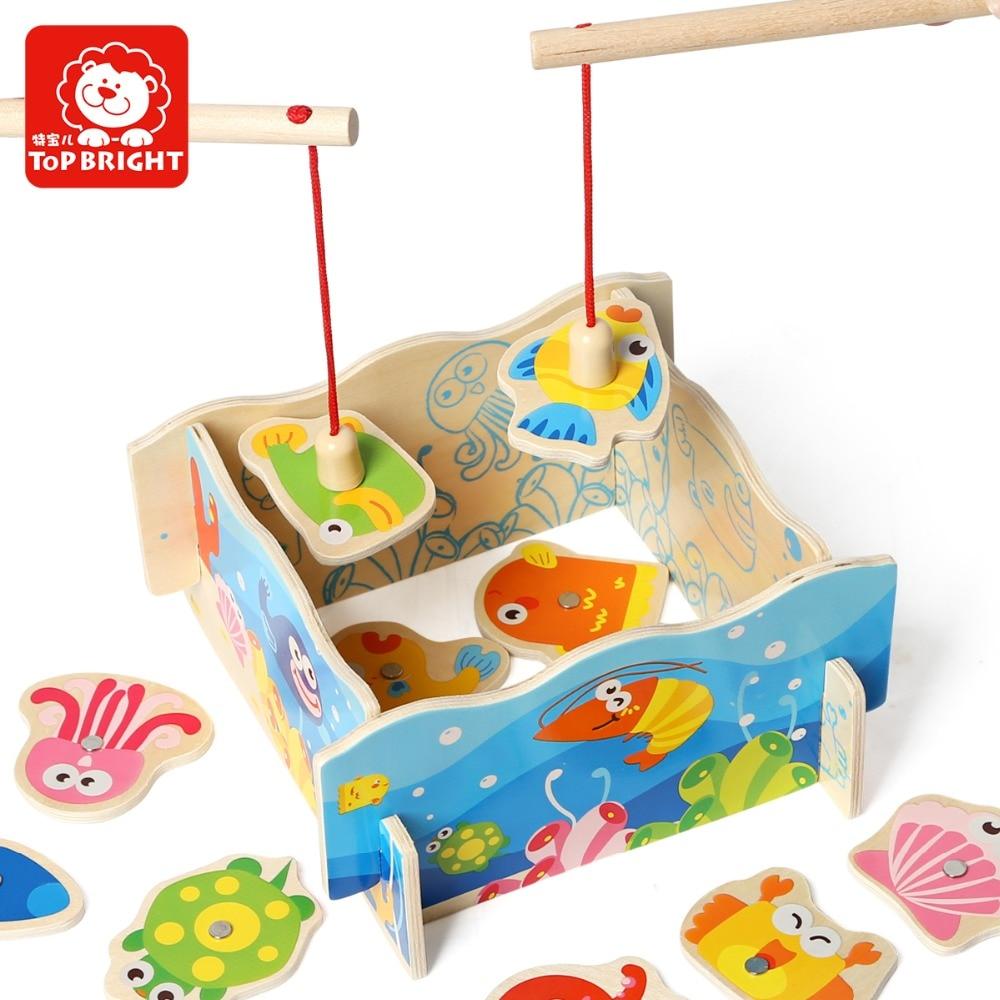 Игрушек! Горячая обучающая деревянная игрушка Красочные Магнитные DIY рыбалка игра смешной родитель детская игрушка День рождения Рождественский подарок 1 p