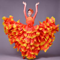 The New Summer Opening Dance Full skirted Dress Costumes Performing Suit Adult Dance Skirt Female Stage Petals Skirt Of The Dres
