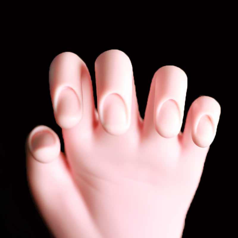 1pcs Nail Practice Hand Model For Nail Tips Flexible Soft False Fake