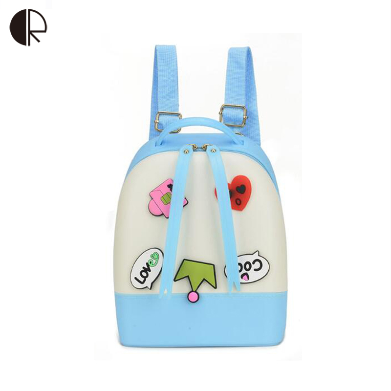 2018 Boys/Girls Cute Cartoon Bagpack Children Silica Gel Jelly Bag Kindergarten Letter Stitching Backpack Candy Bags for Toddler fggs 13 colors lovely girls wallet candy color kawaii cute cartoon animal multicolor silicone jelly coin bag purse kids gift
