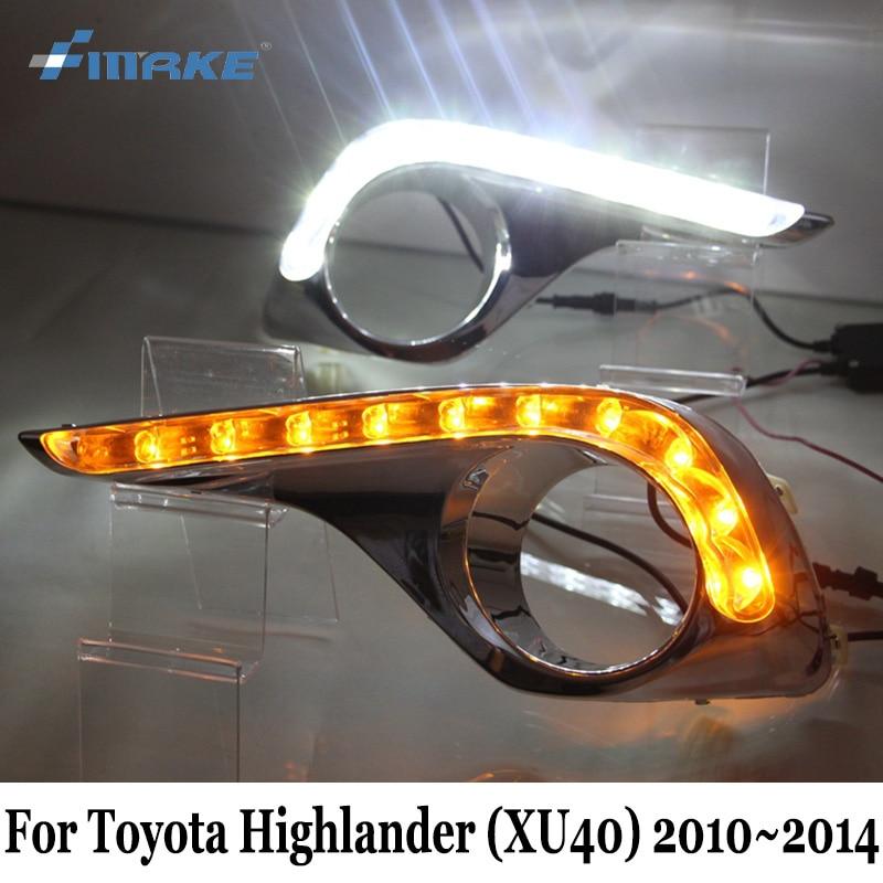 ДХО SMRKE для Тойота Highlander (XU40) 2011~ / 2014 автомобиль светодиодные дневные ходовые свет & указатель поворота / стайлинга автомобилей Противотуманные лампы кадр