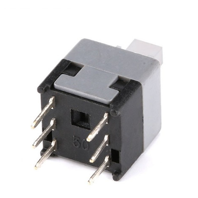 20pcs/lot Square Button Tactile Push Button Switch 6 pin 8.5x8.5mm Not self locking / self locking Tact DIP Type Switches