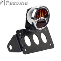 Chrome parar estilo motocicleta piscando luz de freio moto taillight suporte da lâmpada para harley 3/4