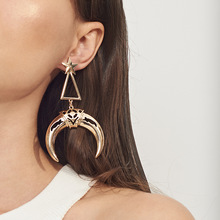 Fashionable Personality Creative New Earrings Hollow Triangular Drop Exaggerated Ladys