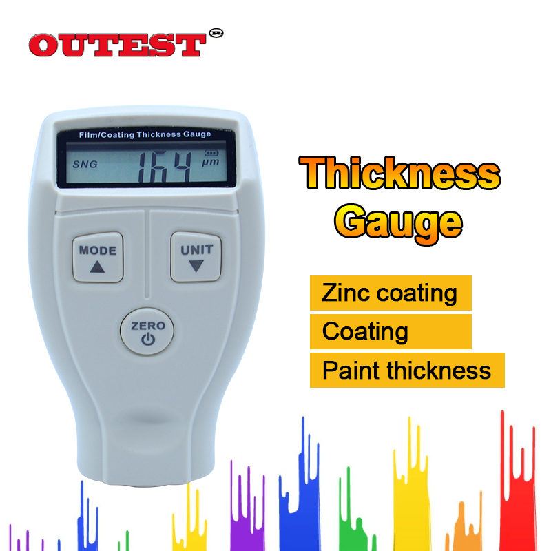 Free shipping Film paint Coating Thickness Gauges Meter handheld Non-magnetic Surface Paint Coatings Thickness Meter GM210/GM211 measurement of coating thickness gauge paint film thickness measurement iron and aluminum dual purpose paint film instrument car