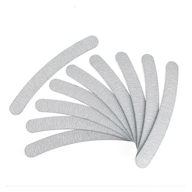 10pcs Curved Nail Polish Nail File Sanding Polish Buffer Sanding Nagels Nail Manicure Tools Random Tool Acrylic File Nail Art