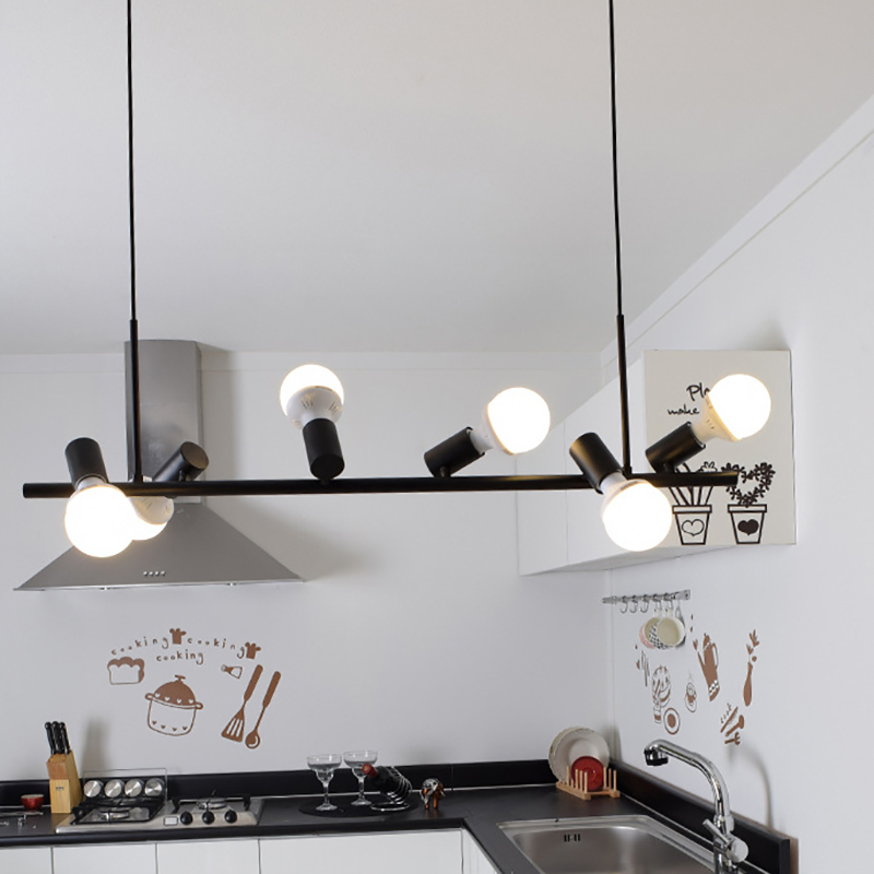 American style pendant lamp for kitchen dinning room for Luminaire suspension 4 lampes