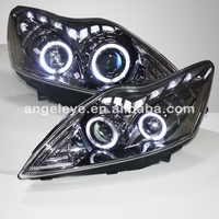 FOR FORD Focus LED Head Lamp 2009 2011 year Chrome Housing GS Style