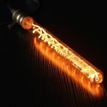 T300 vintage edison lâmpada de luz led e27 8w 220v retro chama luz para casa lâmpada luminárias decoração