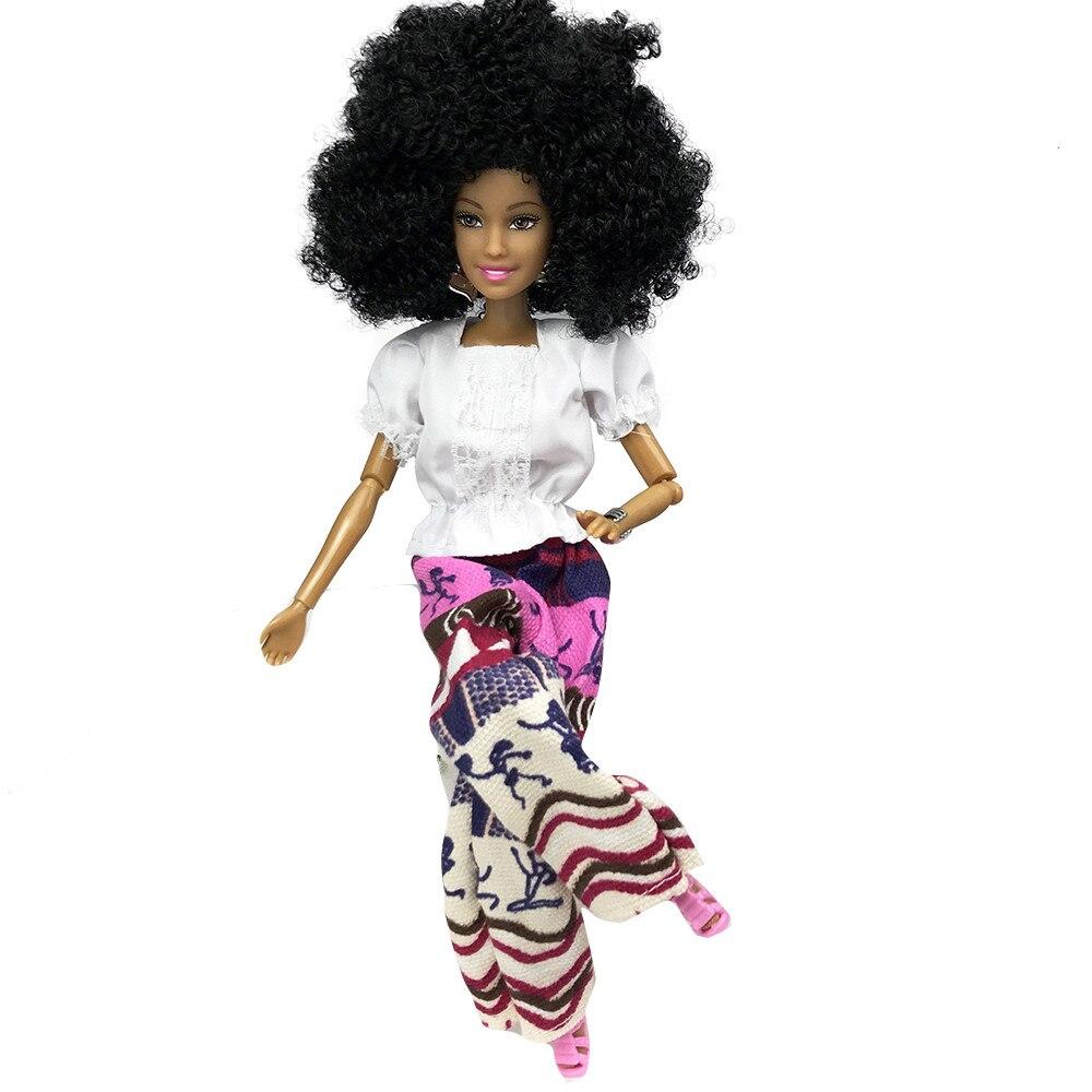 1 Stück Puppe Mit Kopf Für Mädchen Puppen Baby Bewegliche Gelenk Afrikanischen Puppe Spielzeug Schwarz Puppe Beste Geschenk Spielzeug Beste Mädchen Geschenke Kind Spielzeug
