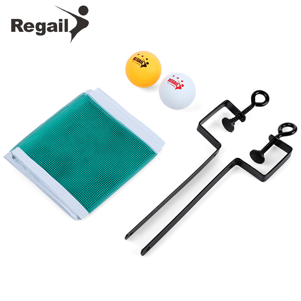 REGAIL Portable Table Tennis Set Net Ping Pong Ball Fix Equipment Three Star Level Table Tennis Ball Training Set Accessories ...