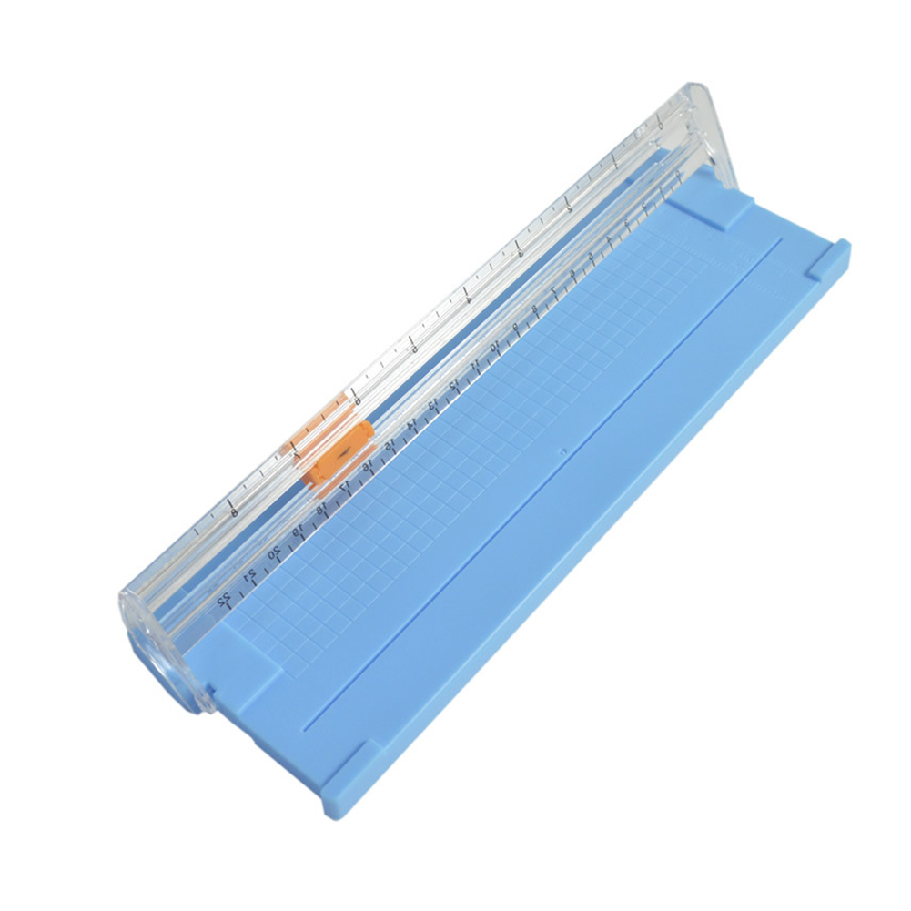 Precise Sliding Home Safe Paper Cutter Photo Trimmer Scrapbooking Cutting Tool Diy Mini Stationery Clear Scale Office Portable