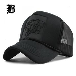 a62d41f75ccec FLB Hip Hop Black Baseball Caps Summer Mesh Snapback Men