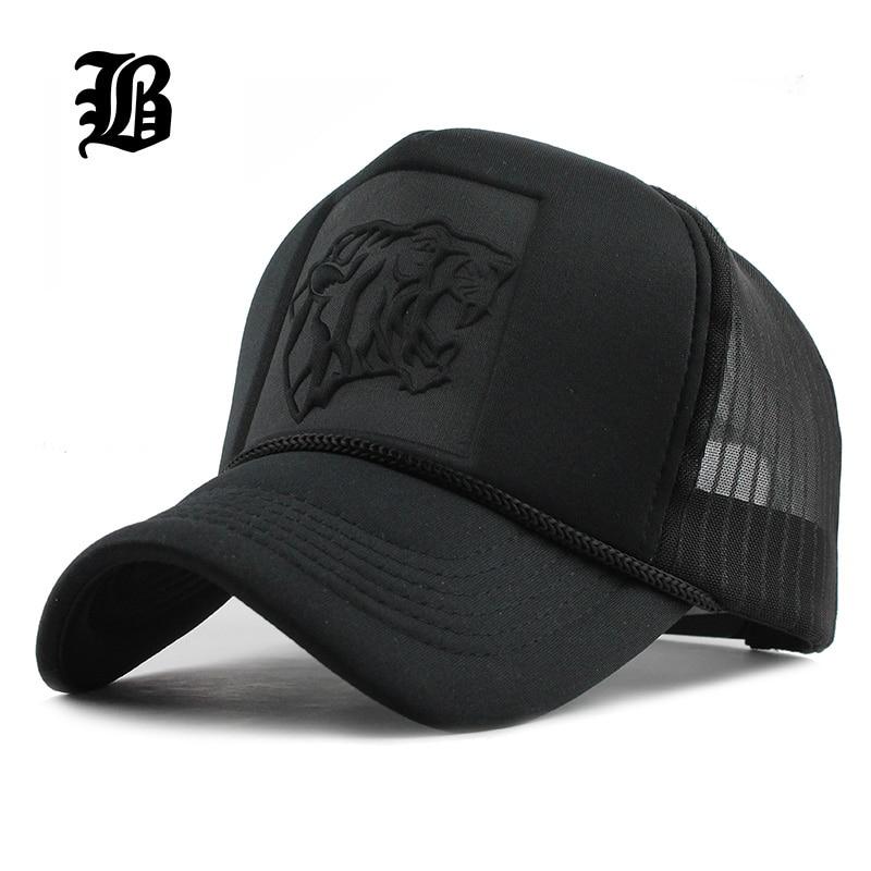 [FLB] 2017 Hip Hop Schwarz leopard Print Gebogene Baseball Caps Sommer Mesh Snapback Hüte Für Frauen Männer casquette trucker Cap