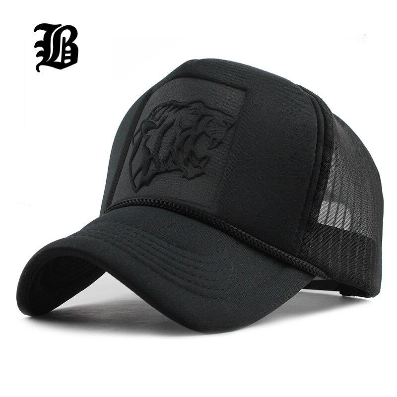 [FLB 2017 Hip Hop negro estampado de leopardo curva gorras de béisbol de verano malla Snapback sombreros para los hombres y las mujeres casquette gorra de camionero