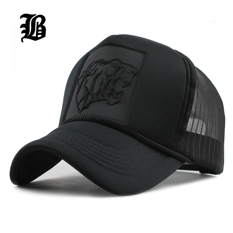 [FLB] 2019 Hip Hop Black leopard Print Curved   Baseball     Caps   Summer Mesh Snapback Hats For Women Men casquette Trucker   Cap