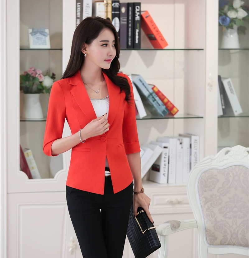 Red Blazer Jacket for Women Promotion-Shop for Promotional Red ...