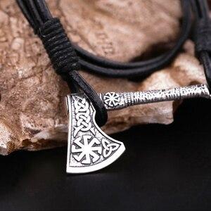 Подвески в виде топора Викинга, топора, Тора, молота, колеса от солнца, амулет, кожаные браслеты серебристого и золотого цвета