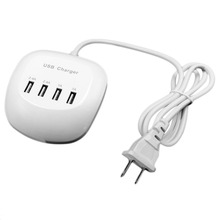 Onleny 4 Ports USB Wall Charger 2.4A Fast Charging Adapter Portable Travel Mobile Phone Charger for iPhone for Samsung