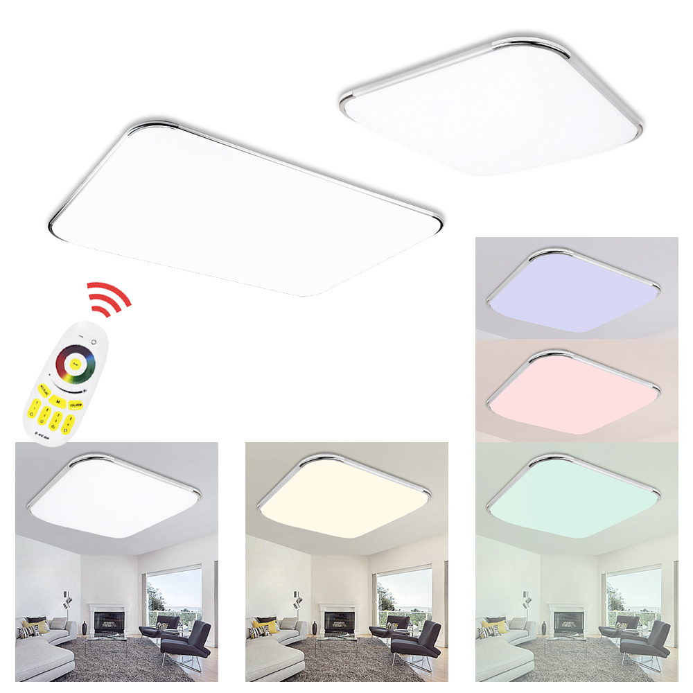 rgb 24W 36W 48W 64W 96W thin LED Ceiling Lamp Modern LED Light Dimmable Color Living room bedroom kitchen Remote Control blue time led ceiling lights 36w 48w 72w square kitchen light 110v 220v240v modern led ceiling lamp for bedroom