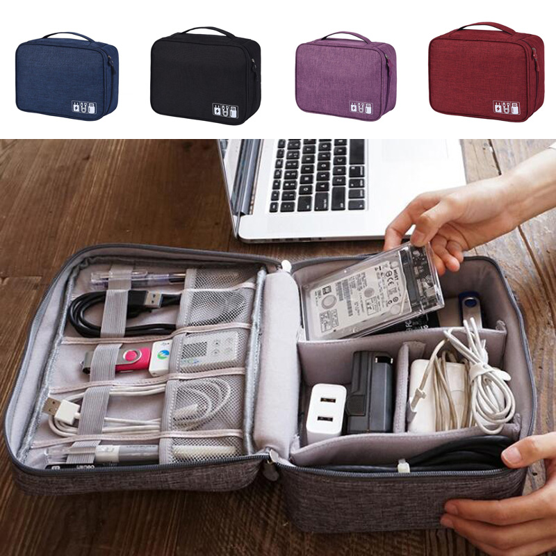 New Travel Digital Storage Bag Multi-function Data Line Charger Finishing Package