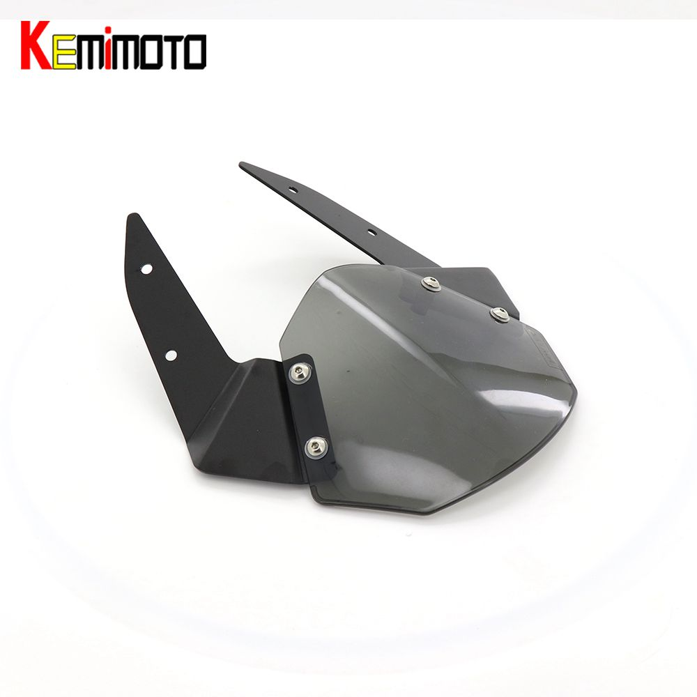 KEMiMOTO windscreen windshield for kawasaki Z800 z 800 for kawasaki 2013 2014 2015 2016 motorcycle accessories parts smoke