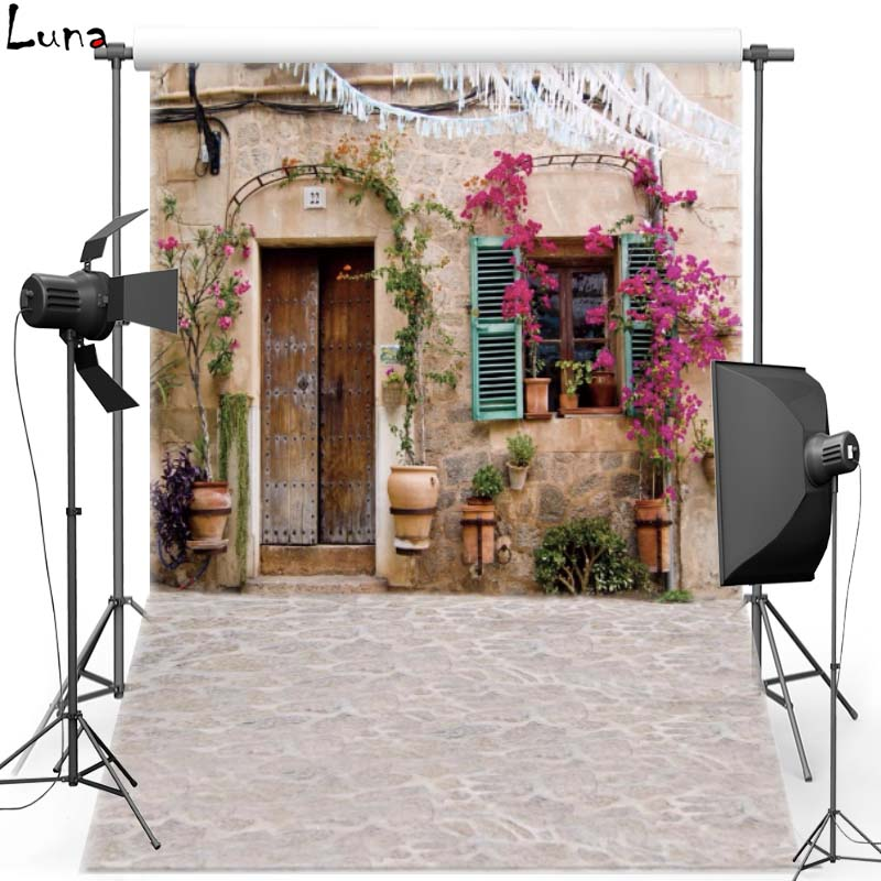Old House Vinyl Photography Background Street View Oxford Backdrop For Wedding photo studio Props 5235
