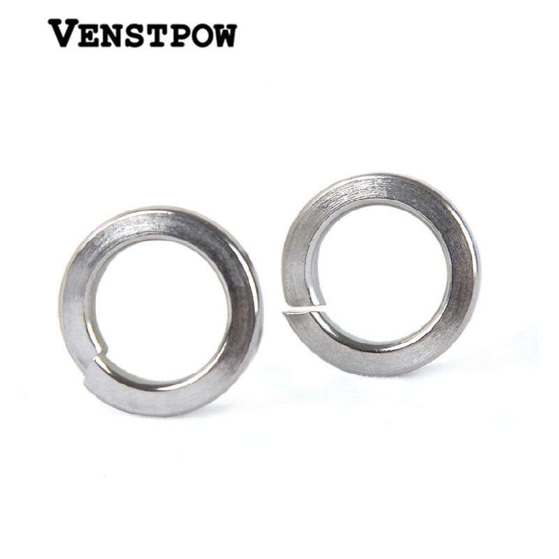 100pcs GB93 M1.6 M2 M2.5 M3 M4 M5 M6 M8 M10 M12 M14 M16 M18 M20 M22 304 Stainless Steel Spring Washer Split Lock Washers цены