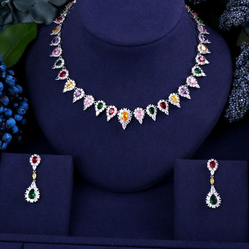 Jewelry-Sets Cz-Stone Dubai Jankelly Cubic-Zirconia Multi-Bridal Party African Women