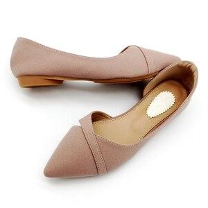 Image 4 - 2020 אביב קיץ אופנה אישה בלט דירות נעלי נשים רך להחליק על אחת נעלי גבירותיי נעלי הנעלה zapatos de mujer שחור