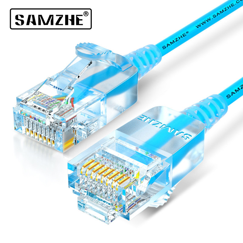 SAMZHE Cat6A Ultrafine Ethernet Patch Cable - Slim RJ45 Computer,PS2,PS3,XBox Networking LAN Cords 0.5m 1m 1.5m 2m 3m 5m 8m 10m