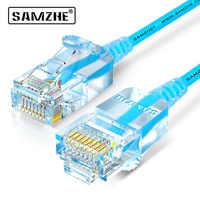 SAMZHE Cat6A Ultrafine Ethernet Patch Cable-Sottile RJ45 Del Computer, PS2, PS3, xbox 360 di Rete LAN Fili dd Lacci 0.5m 1m 1.5m 2m 3m 5m 8m 10m