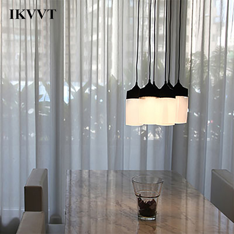 IKVVT Modern LED Pendant Lights For Kitchen Island Dining Room Shop Bar Counter Decoration Minimalism Pendant Lamp Fixtures