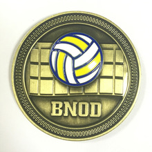 Custom volleyball match coin new brass 3D sports