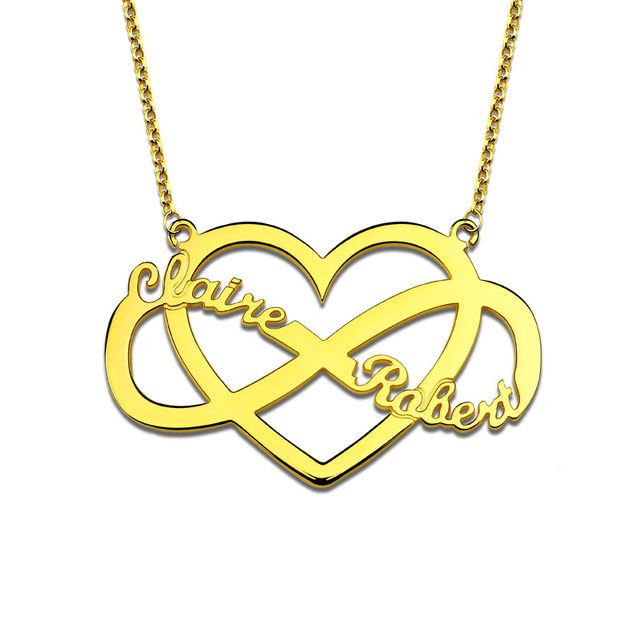Online Shop Ailin Personalized Unique Infinity And Heart Name