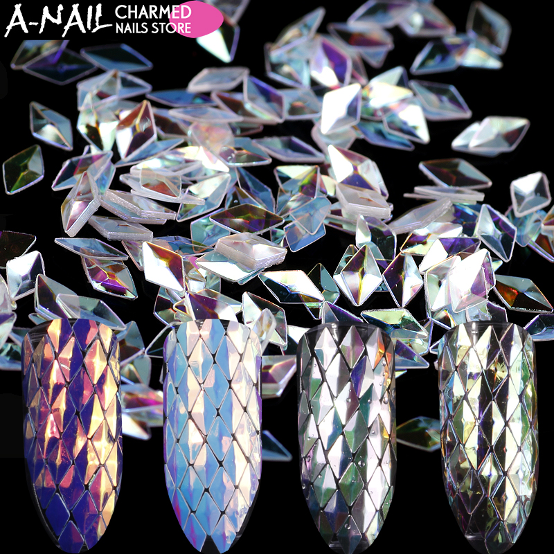 12 Boxes/set Unicorn Rhombus Nail Glitter Sequins Spangle AB Color Acrylic Nail Tips UV Gel Polish For Nails Art Decoration Tool rhombus star dot silver sequins сияющие хлопья украшение charm nail glitter пайетт декор макияж аксессуары