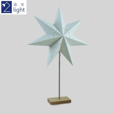 Wholesale Handmade White Paper Lampshade Green paper table lamp with free shipping