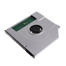 New Laptop Internal Cooling Fan Inner CPU Cooler Radiator 2nd M2 M.2 NGFF SSD Caddy Solid State Hard Disk Enclosure Adapter 9.