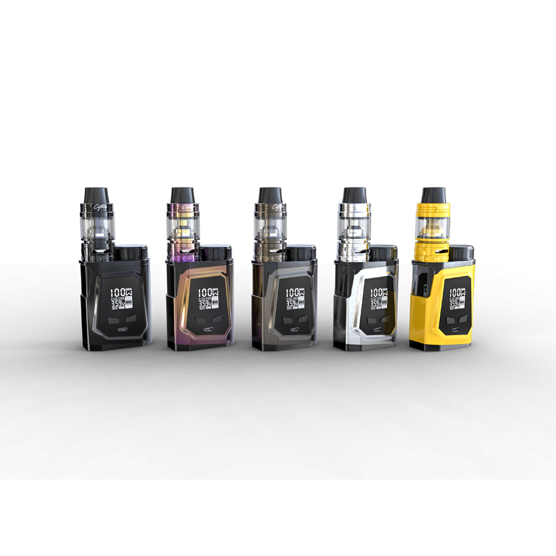Original IJOY Capo 100 Kit with 21700 battery 3750mah/100W CAPO 100 BOX Mod/3.2 ml/2ml Tank support dual 18650 Battery