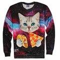 Новый 3d кофты толстовки мужчины женщины 3d печать кошка/лев/тигр забавный мультфильм толстовка топ обе стороны печати пуловеры плюс размер