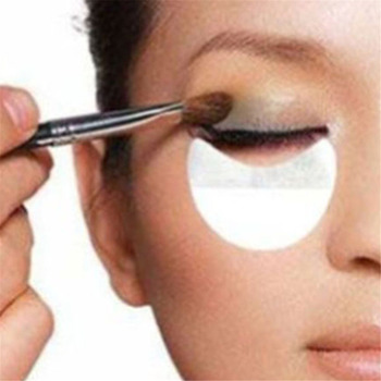 10pcs Pro Cotton Eyeshadow Shields Under Eye Patches Disposable Eyelash Extensions Pads Protect Pad Eyes Lips Makeup Tool