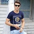 Мужская печати Футболка О-Образным Вырезом мужчин майка Дышащий Хлопок Марка Цветочные Забавный футболка Печати Homme Летние Мужские одежда Мода Белый