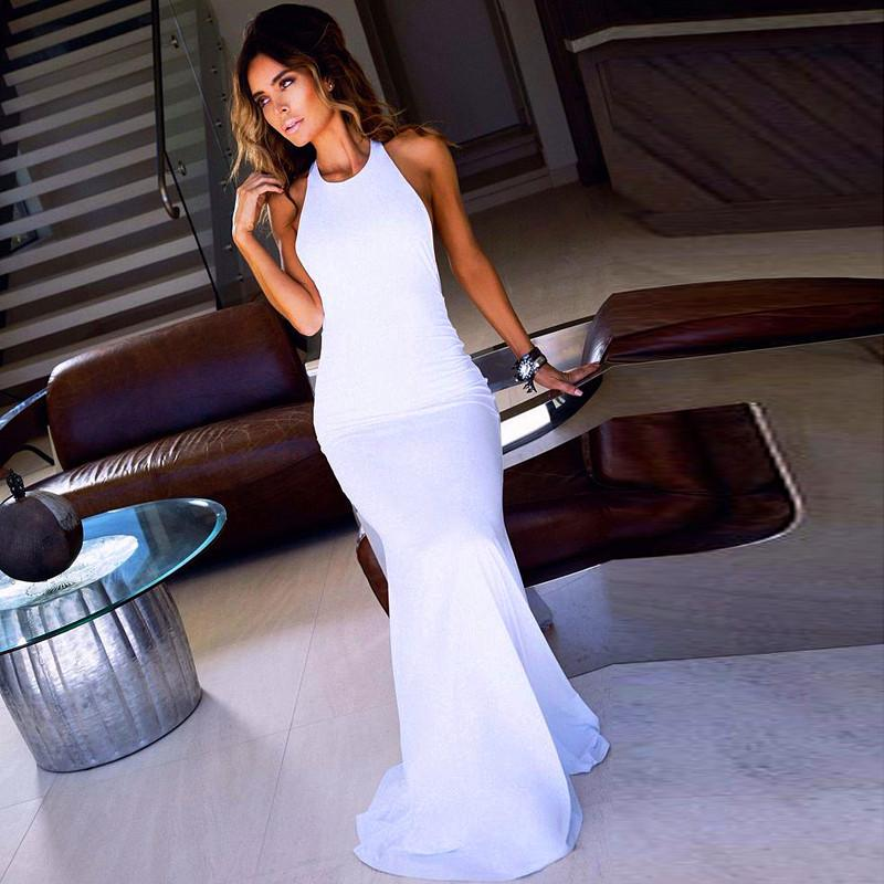 Long dress backless 18