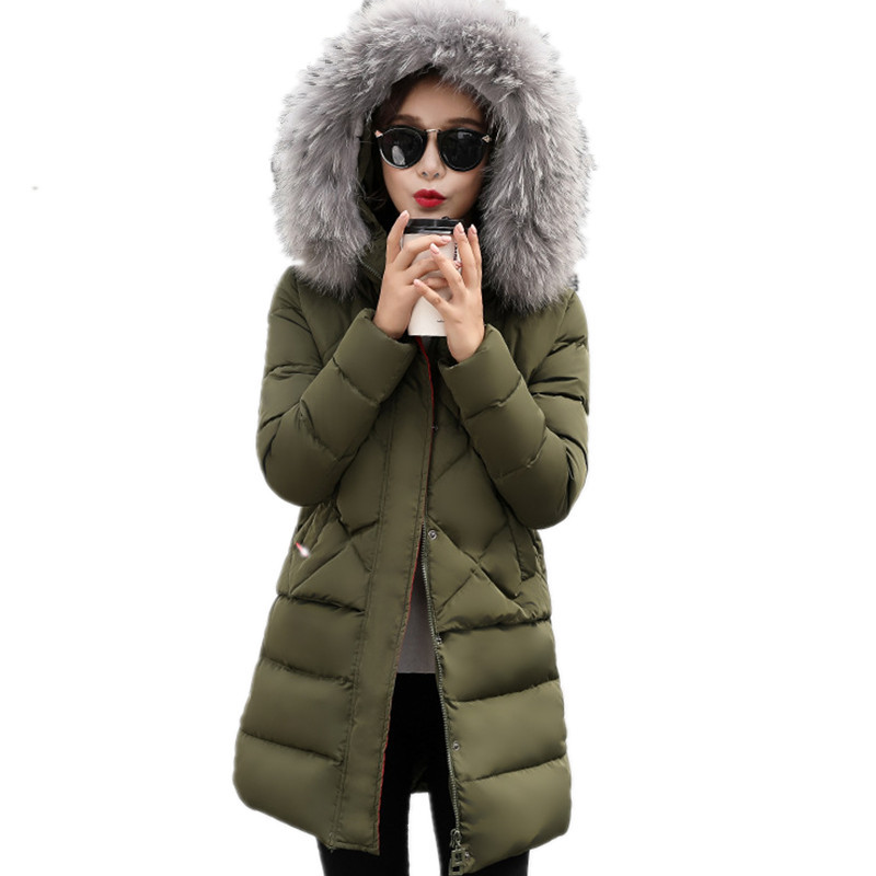 Winter Real Fur Thick Down Cotton Parka Womens Winter Jackets Warm Medium-long Winter Jacket High Quality Padded Parka TT3294 womens winter jackets slim fashion womens parka medium long thicker coat jackets female lapel down padded cotton jacket c1699